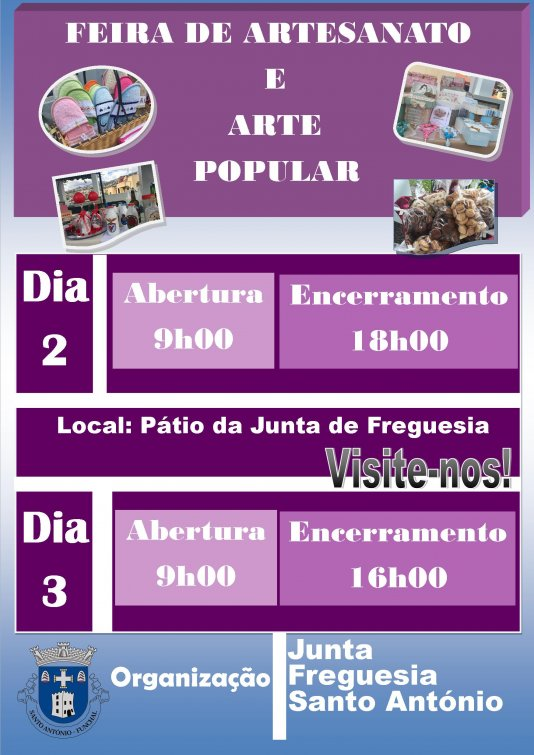 Feira de Artesanato e Arte Popular (Mês de Novembro 2017)