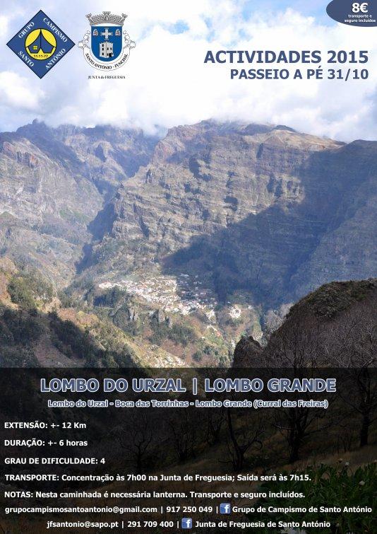 PERCURSO - Lombo do Urzal - Lombo Grande