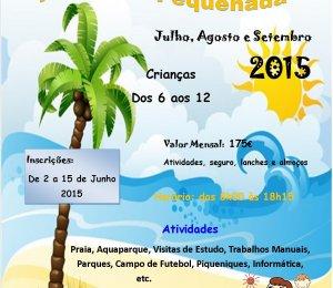 ATL- Ferias da Pequenada 2015, inscrições de 2 a 15 de Junho de 2015.