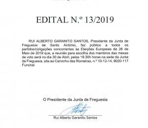 Edital nº13/2019