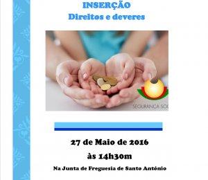 """Sessão de Informação """" Rendimento Social de Inserção, Direitos e Deveres"""""""